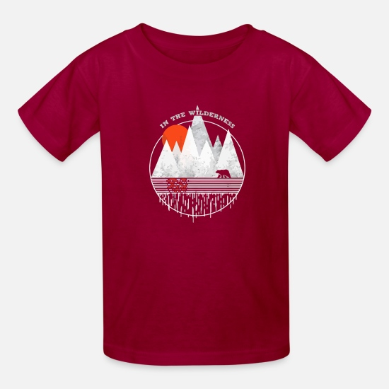 Game T-Shirts - In The Wilderness - Kids' T-Shirt dark red