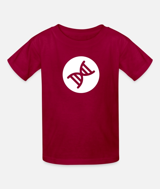 Attractive T-Shirts - DNA Double Helix - Kids' T-Shirt dark red