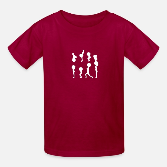 Jerking Off T-Shirts - clean and jerk - Kids' T-Shirt dark red