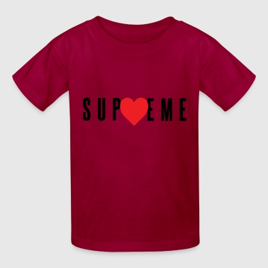 Love Supreme - Red Heart (Black Letters) - Kids' T-Shirt