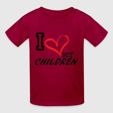 I_LOVE_MY_CHILDREN - PLUS SIZE FIT - Kids' T-Shirt
