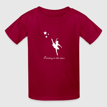 Pointing to the stars white - Kids' T-Shirt