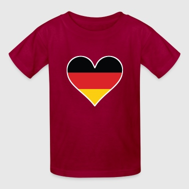 German Flag Heart - Kids' T-Shirt