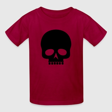 Black Skull Silhouette - Kids' T-Shirt