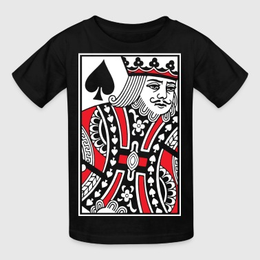 Card King Kings of Spades - King Card - Kids' T-Shirt