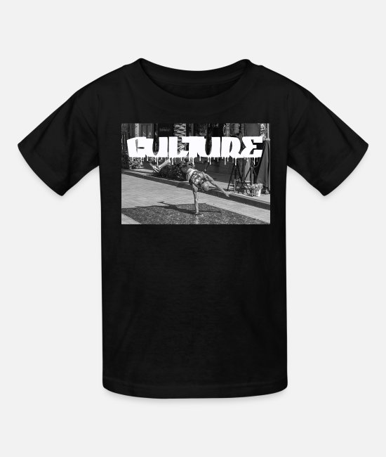 Rap T-Shirts - CULTURE BREAK DANCING - Kids' T-Shirt black