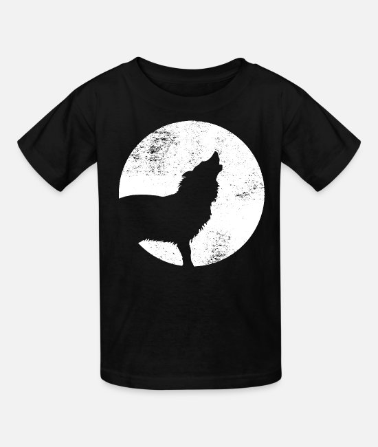 Full Moon T-Shirts - Wolfpack - Kids' T-Shirt black