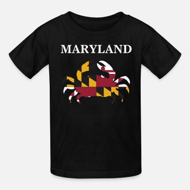 Flag Maryland State Maryland Flag Crab Art Blue Crab - Kids' T-Shirt