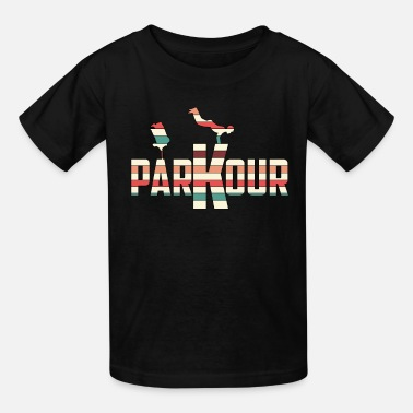 Parkour Awesome and Cool Parkour Tshirt Design Stripes Parkour - Kids' T-Shirt