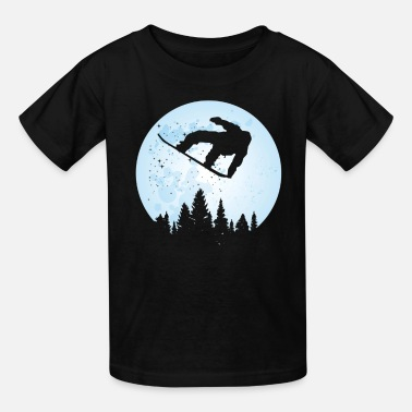 Bigfoot Thanksgiving Day Snowboard Bigfoot Ski Funny Sasquatch Skiing - Kids' T-Shirt