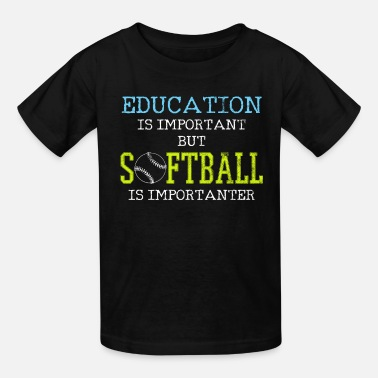 Player Softball Player - Kids' T-Shirt