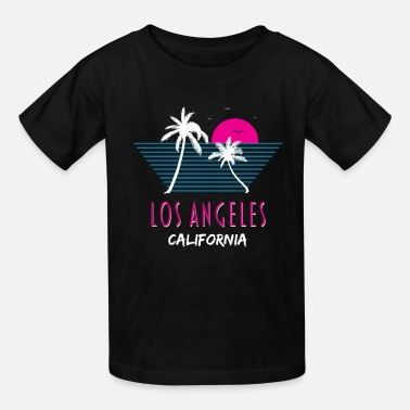 Old School Los Angeles California United States Retro Gift - Kids' T-Shirt