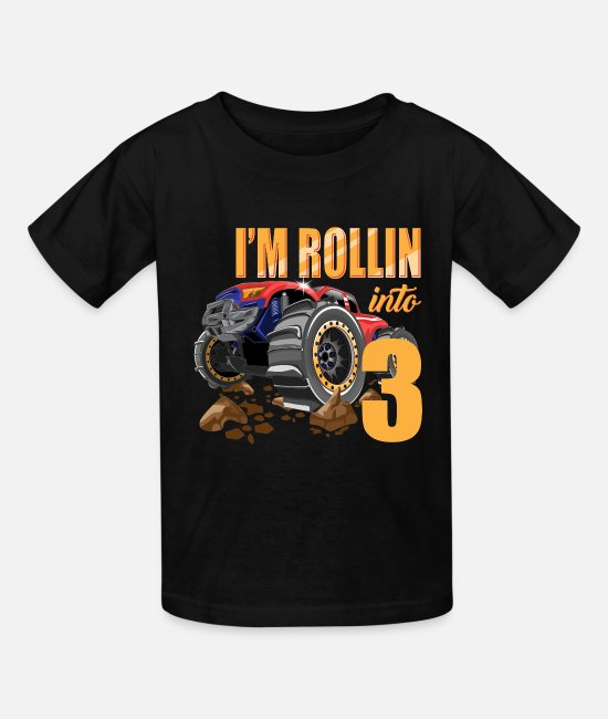 3rd Birthday Gift 3 Year Old Birthday Truck Toddler//Kids Long sleeve T-Shirt I/'m
