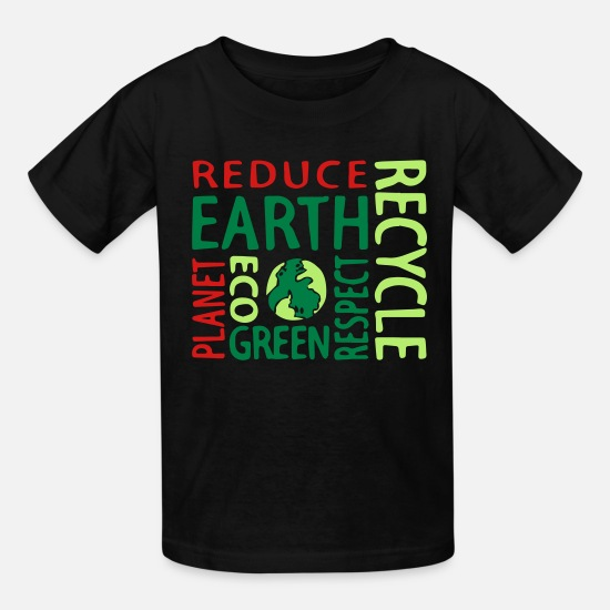 Recycle T-Shirts - Recycle - Kids' T-Shirt black