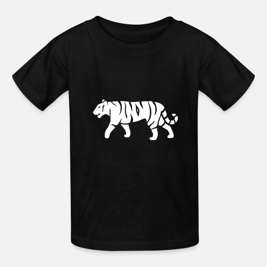 Gift Idea T-Shirts - White Tiger - Kids' T-Shirt black