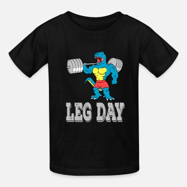 Lifting A Motivation Tee For You Illustration Leg Day - Kids' T-Shirt