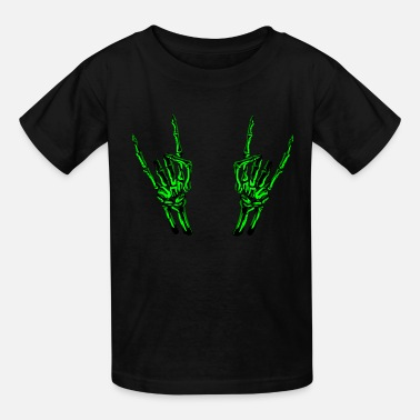 Climbing &amp Skeleton Rock Hands - Kids' T-Shirt