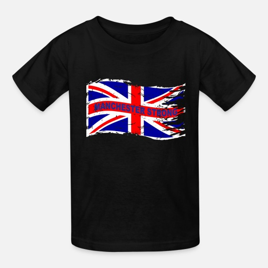 Ariana T-Shirts - MANCHESTER STRONG WAVE - Kids' T-Shirt black