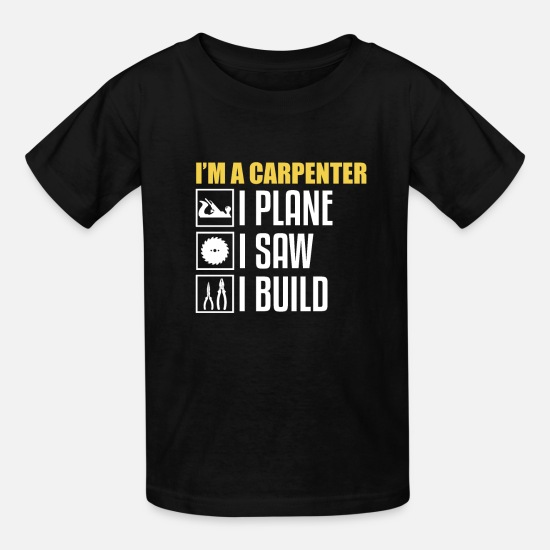 Hammer T-Shirts - I'm a carpenter gift - Kids' T-Shirt black
