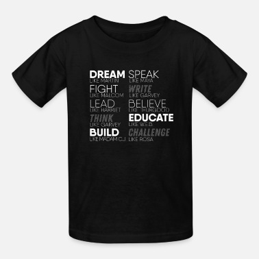 Black History Black Leaders Text Design - Black Live Matters - Kids' T-Shirt