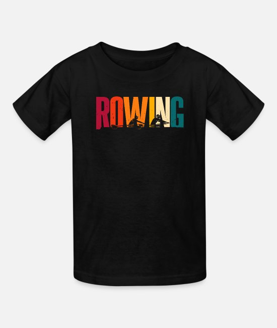 Rower T-Shirts - Rowing T-shirt Gift Rowers Canoe - Kids' T-Shirt black