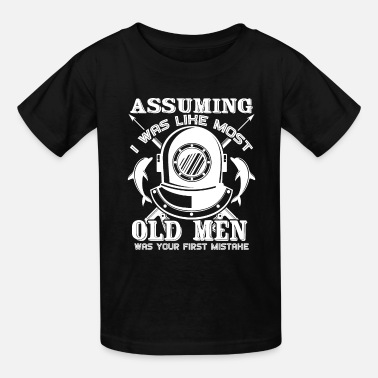 Meme Old Men Scuba Diving - Kids' T-Shirt