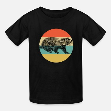 Groundpig Vintage Classic Retro color Happy Groundhog Day - Kids' T-Shirt