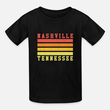 Nashville Tennessee retro sunset - Kids' T-Shirt