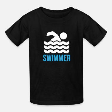 Parents Swimmer - swimming symbol swimmer - Kids' T-Shirt