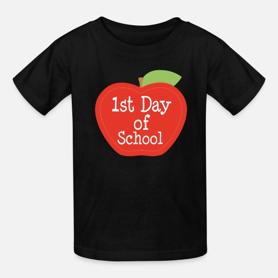 First T-Shirts - 1st Day of School Student - Kids' T-Shirt black