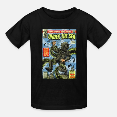 Deep Sea Diver Comic Book Cover Deep Sea Diver Kraken - Kids' T-Shirt