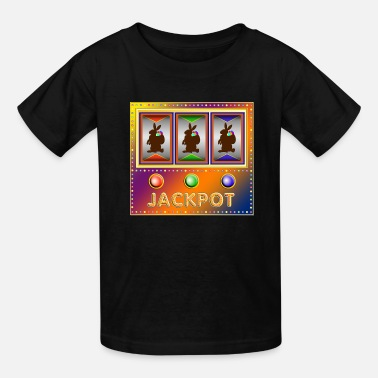 Slot slot machine with easter bunnies - Kids' T-Shirt