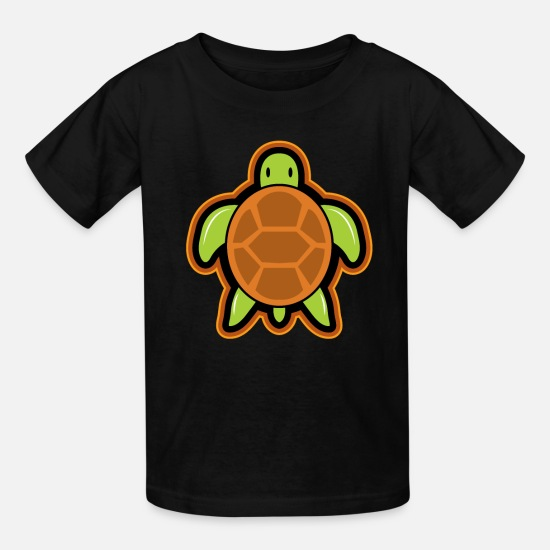 Birthday T-Shirts - Tortoise gift turtle - Kids' T-Shirt black