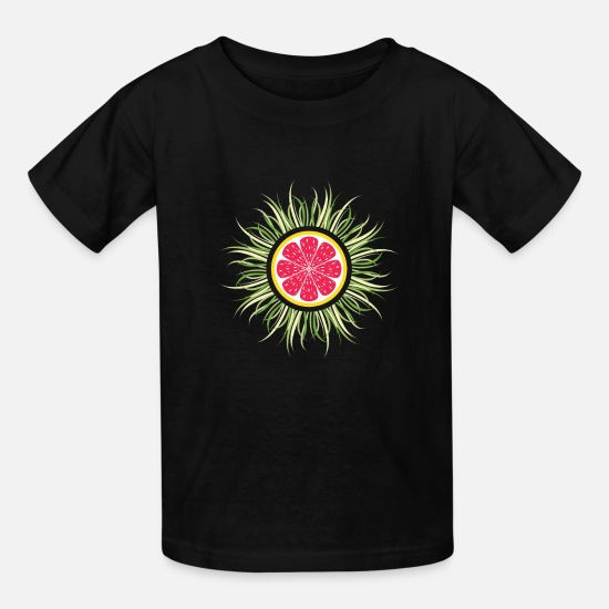 Christmas T-Shirts - Hairy Grapefruit funny Trippy Gift - Kids' T-Shirt black