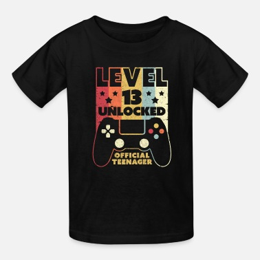 Teenager 13th Birthday Print. Level 13 Unlocked, Official - Kids' T-Shirt