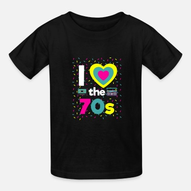 I Love The 70s 70 Party Motto Party Fun Boombox - Kids' T-Shirt
