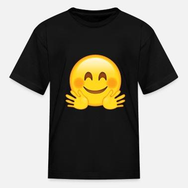 Hugging Face Emojis shirt - Emojis gifts Organic Long-Sleeved Baby