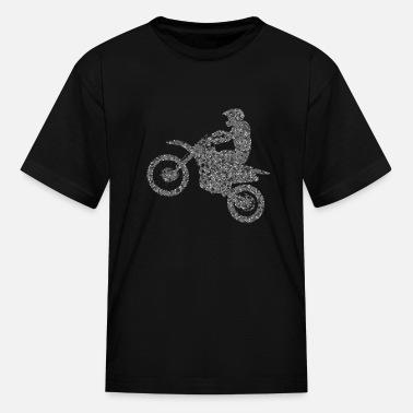 Children/'s Kids Bike Motorcycle Slogan T-shirt Wild Child Black Biker  Top