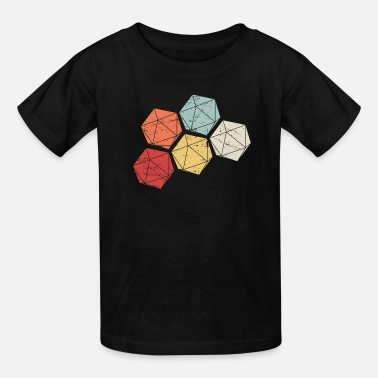 D20 Retro Vintage D20 Roleplaying Game Dice - Kids' T-Shirt