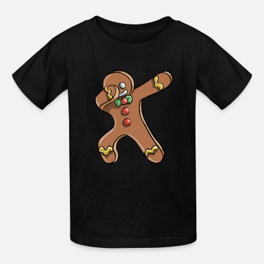 Man Dabbing Gingerbread Man - Kids' T-Shirt