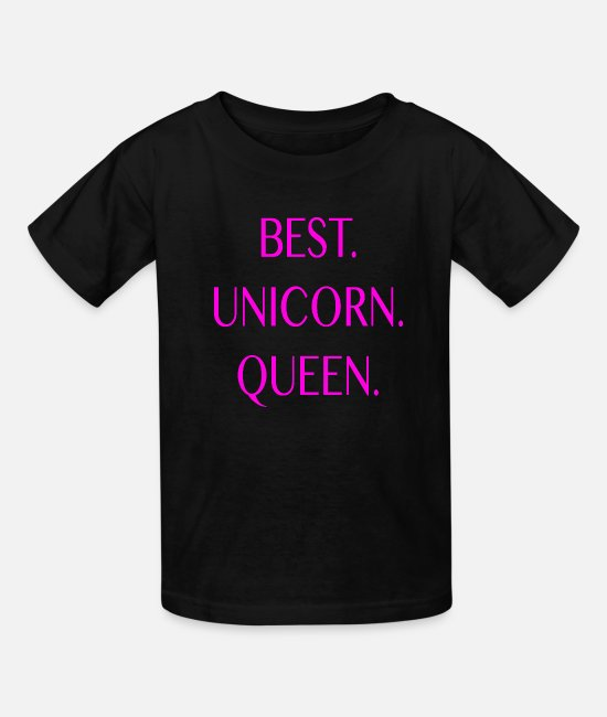 Unicorn T-Shirts - Best Unicorn Queen in The World Birthday Gift Love - Kids' T-Shirt black