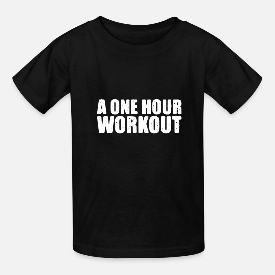 One Night Stand T-Shirts - A one hour workout - Kids' T-Shirt black