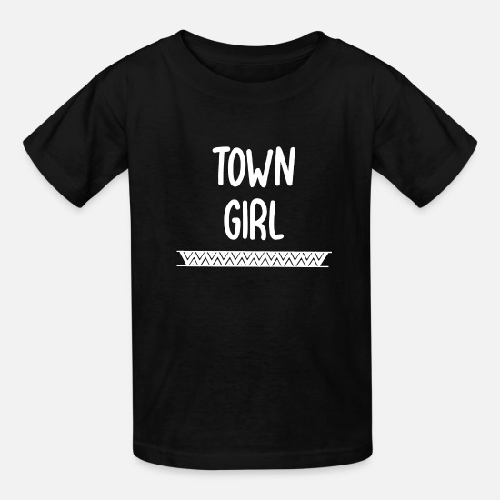 Gift Idea T-Shirts - town girl - Kids' T-Shirt black