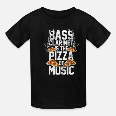 Dixieland Bass Clarinet Is The Pizza Of Music - Kids' T-Shirt