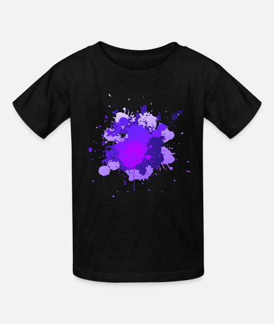 Artist T-Shirts - Paint Splatter - Kids' T-Shirt black