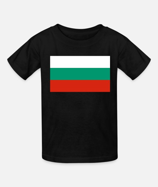 National T-Shirts - Bulgaria country flag love my land patriot - Kids' T-Shirt black