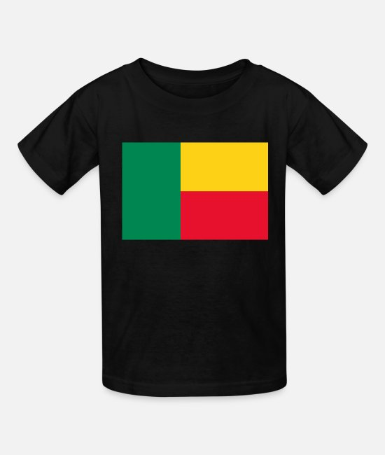 Benin T-Shirts - Benin country flag love my land patriot - Kids' T-Shirt black