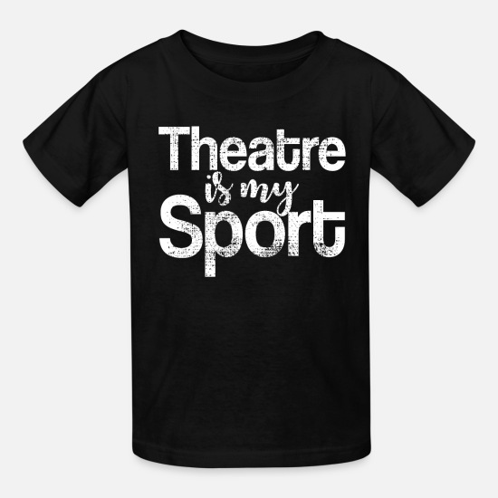 Actress T-Shirts - Theater player actress - Kids' T-Shirt black