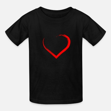Red Heart heart in red - Kids' T-Shirt