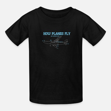 Airplane Cool AEROSPACE ENGINEER Tee: How Planes Fly - Kids' T-Shirt